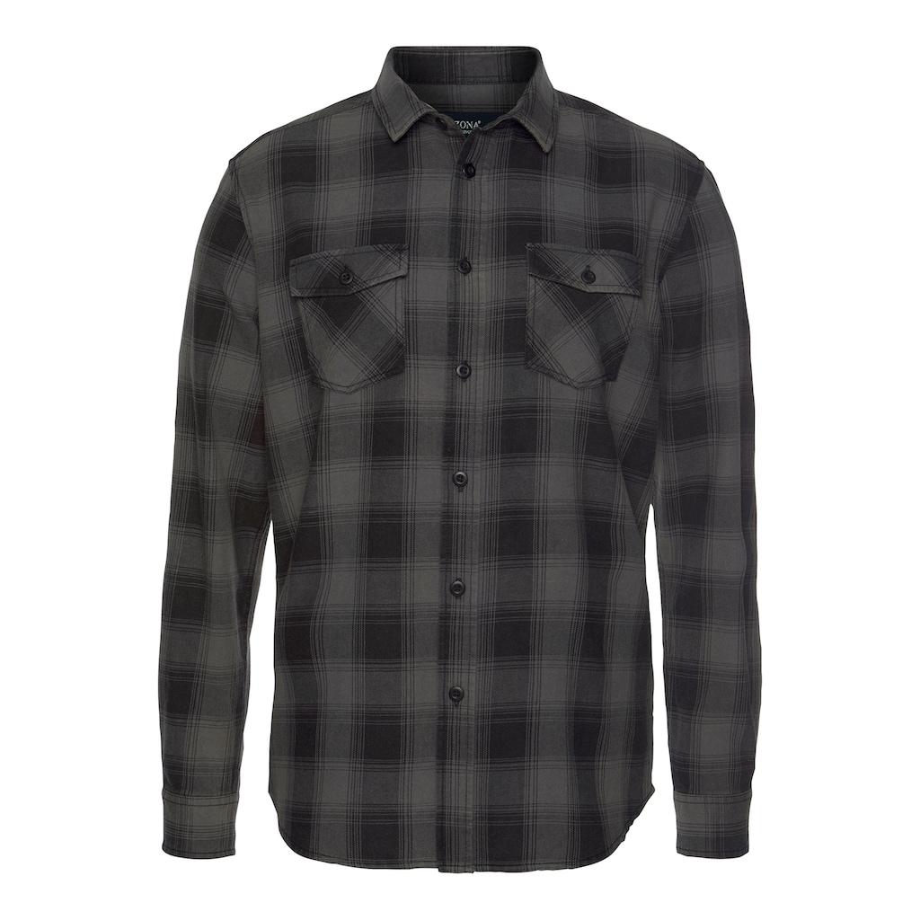 Arizona Langarmhemd, im trendigem Karo und Brusttaschen