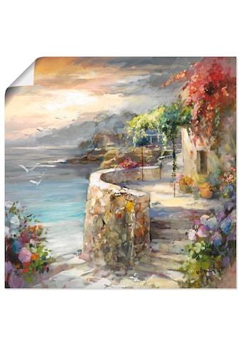 Artland Wandbild »Möwen und Sonnenuntergang«, Gewässer, (1 St.), in vielen Grössen &... kaufen