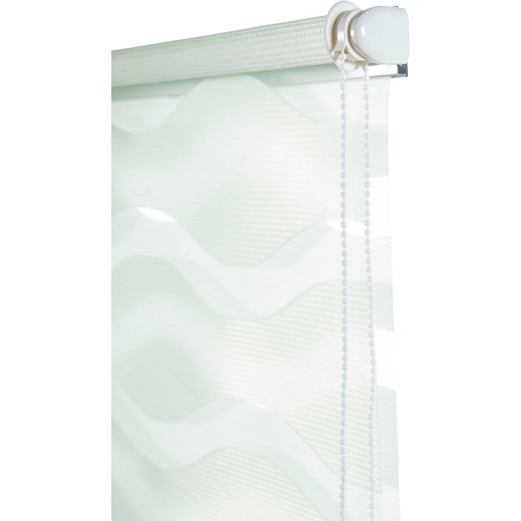 Guido Maria Kretschmer Home&Living Doppelrollo »Wellen«, Lichtschutz, ohne Bohren, freihängend, democratichome Edition