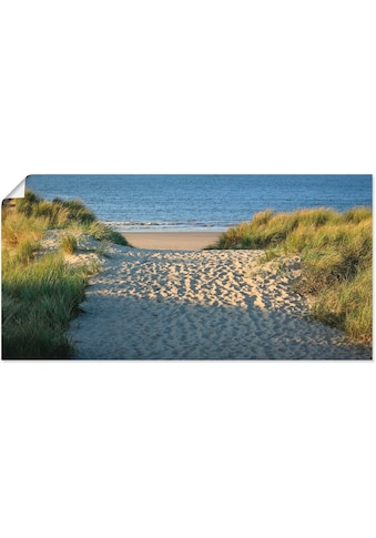 Artland Wandbild »Strandaufgang«, Strand, (1 St.), in vielen Grössen & Produktarten -... kaufen