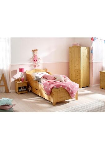 Home affaire Massivholzbett »Ieva«, im Landhaus-Design kaufen