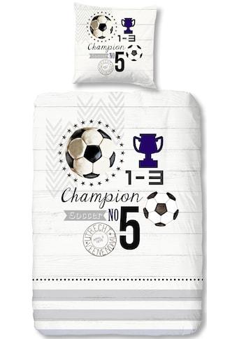 good morning Kinderbettwäsche »Champion«, mit Fussball kaufen