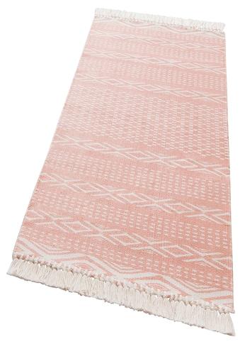 andas Läufer »Neo«, rechteckig, 3 mm Höhe, Pastell-Farben, mit Fransen kaufen