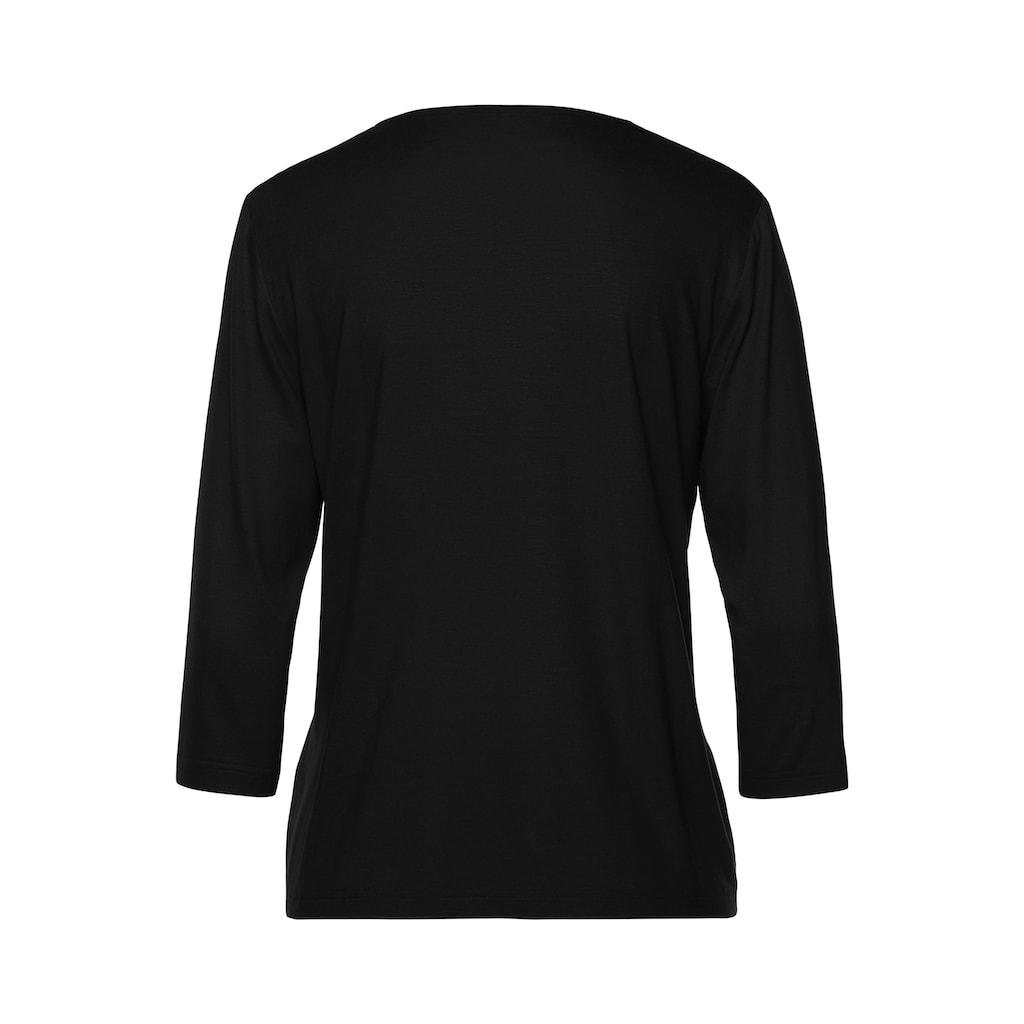 FRANK WALDER V-Shirt, mit Glitzerdetail am V-Ausschnitt