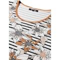 Olsen Print-Shirt, mit Streifen- und Blüten-Druck