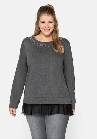 Sheego Sweatshirt, im Layeringlook kaufen
