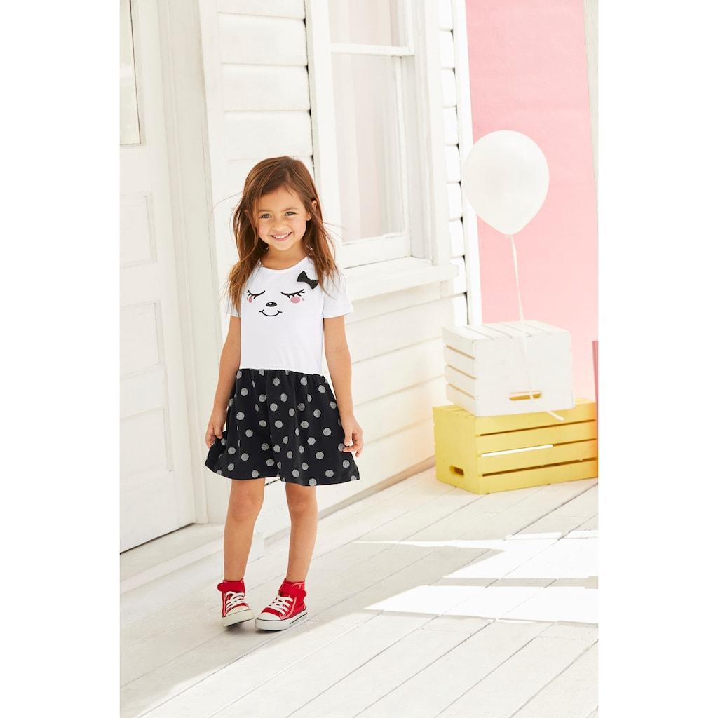 KIDSWORLD Jerseykleid, mit Glitzerdruck