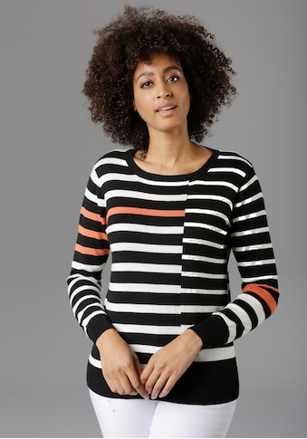 Aniston SELECTED Streifenpullover, im Colorblocking-Dessin kaufen
