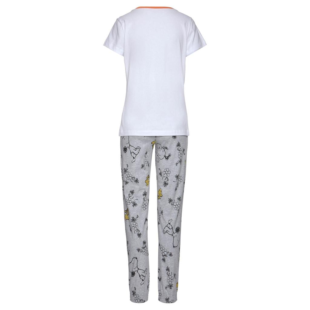 Peanuts Pyjama, mit Snoopy und Woodstock Druck