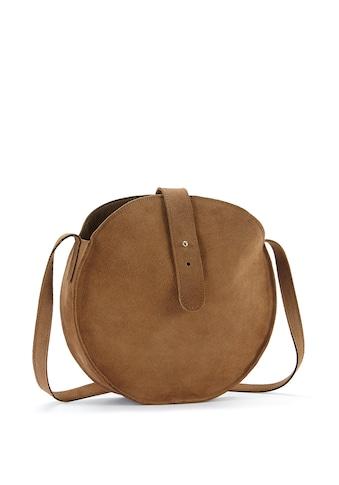 LASCANA Umhängetasche, Runde Tasche aus Veloursleder im lässig Look kaufen