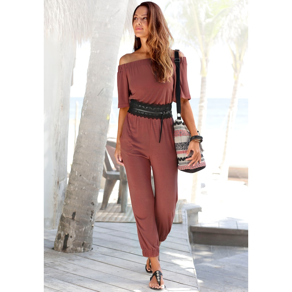 LASCANA Overall, im Carmenstyle