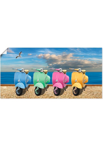 Artland Wandbild »Vespa-Roller in bunten Farben«, Motorräder & Roller, (1 St.), in... kaufen