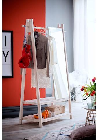 Home affaire Garderobenständer »Ward«, aus schönem weiss lackierten Fichtenholz, Höhe... kaufen