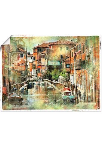 Artland Wandbild »Kanal in Venedig«, Italien, (1 St.), in vielen Grössen &... kaufen