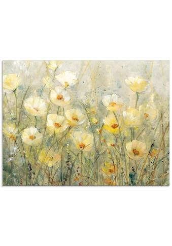 Artland Glasbild »Sommer in voller Blüte I«, Blumenwiese, (1 St.) kaufen