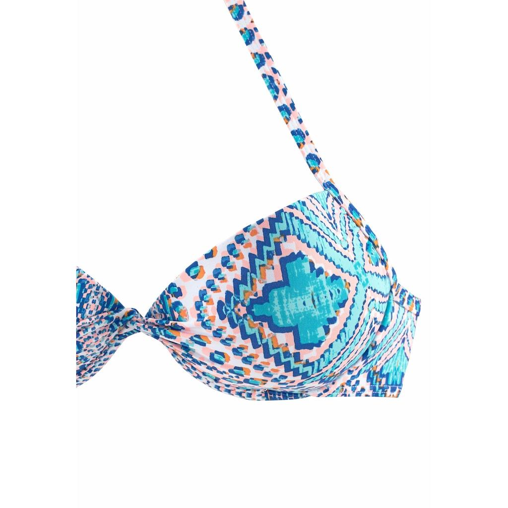 Sunseeker Push-Up-Bikini-Top »April«, mit modischem Druck