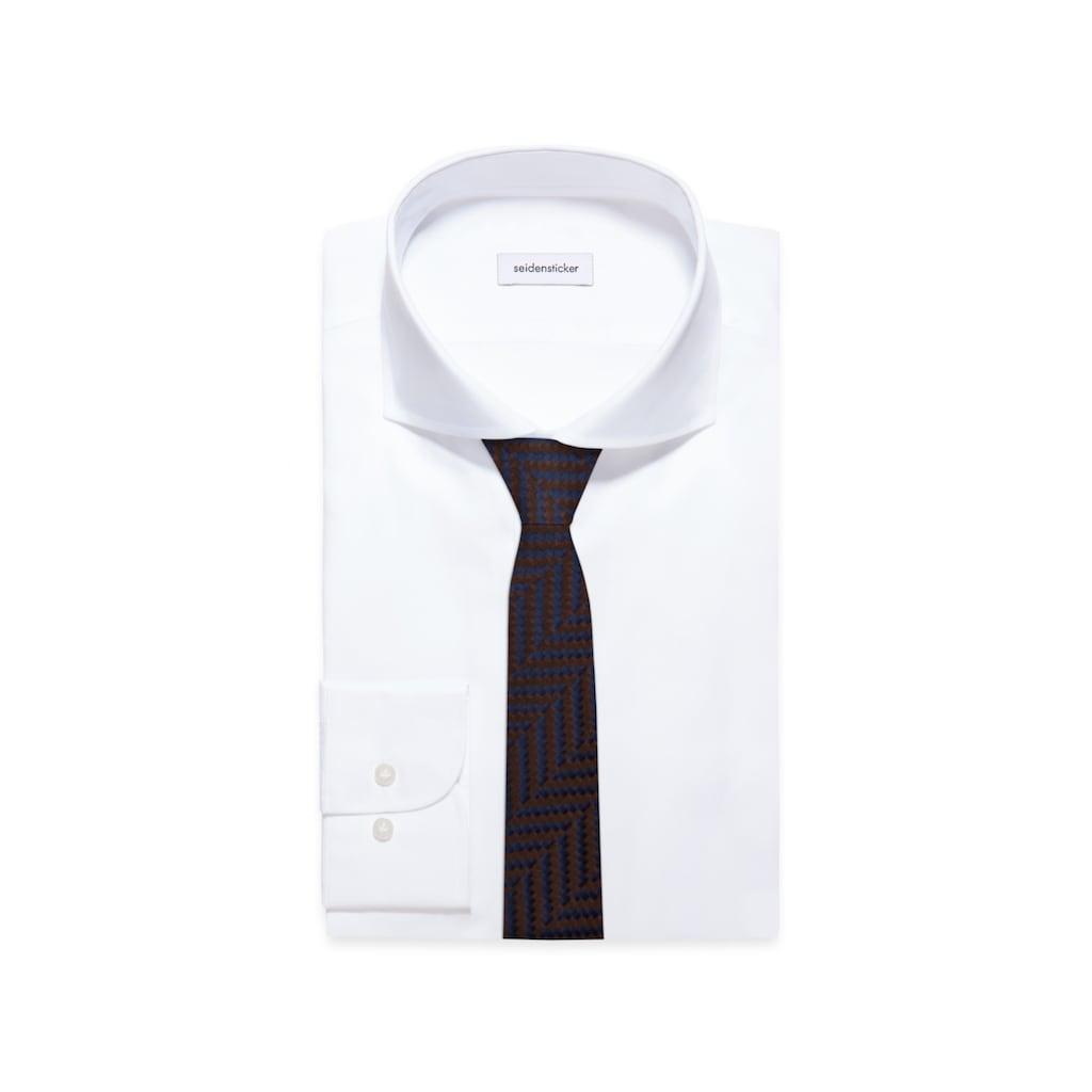 seidensticker Krawatte »Schwarze Rose«, Breit (7cm) Fischgrat