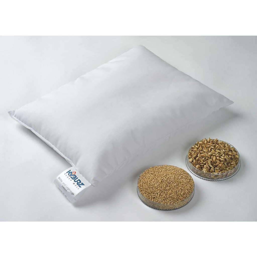 Kyburz Naturkissen »Hirsekissen, Kyburz«, Füllung: Hirsespreu, Bezug: 100% Baumwolle, (1 St.)