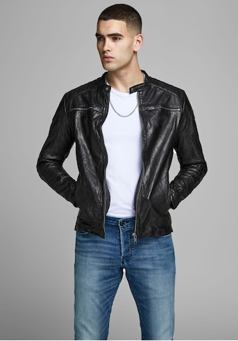 Jack & Jones Lederjacke »Liam Leather Jacket« kaufen