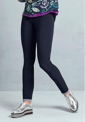 bianca Stretch-Hose »SIENA«, mit farbigen Ripbsband am Saum zum Umschlagen kaufen