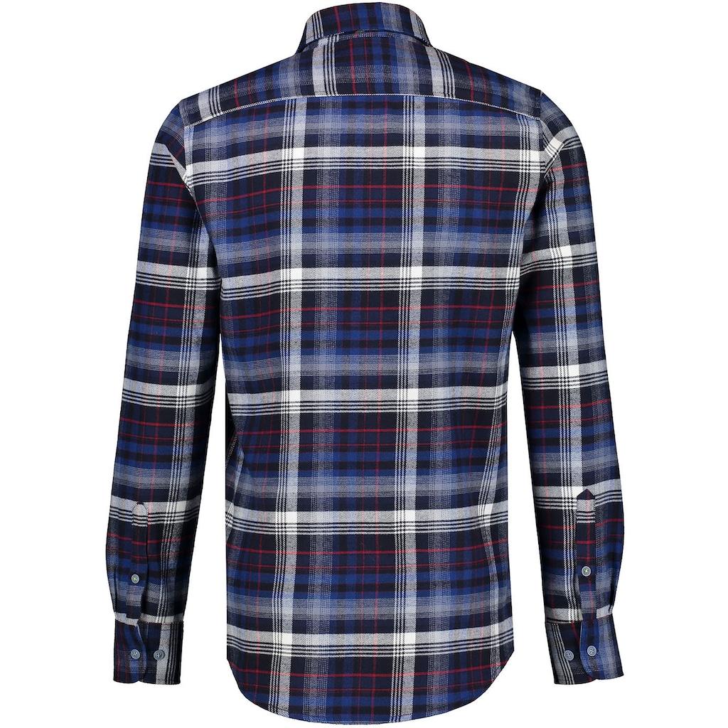 LERROS Langarmhemd, mit Karomuster