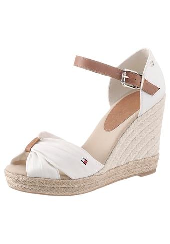 TOMMY HILFIGER High-Heel-Sandalette »BASIC OPENED TOE HIGH WEDGE«, mit dezenter... kaufen