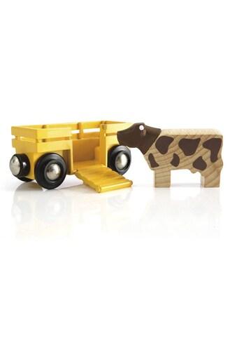 BRIO® Spielzeug-Lokomotive »Tierwagen mit Kuh« kaufen