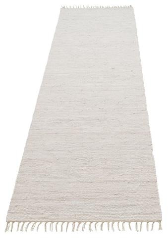 Lüttenhütt Läufer »Paul«, rechteckig, 5 mm Höhe, handgewebt, beidseitig verwendbar,... kaufen
