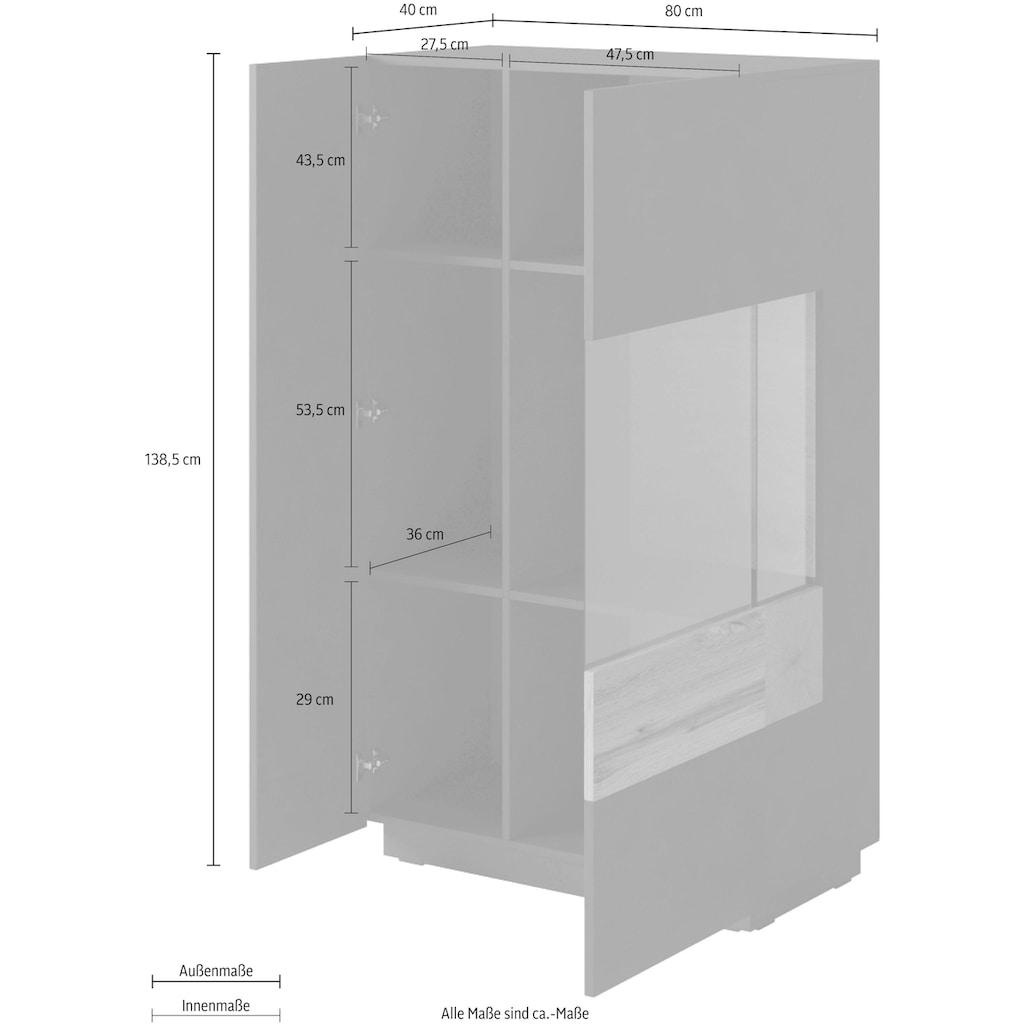 TRENDMANUFAKTUR Vitrine »SILKE«, Höhe 138,5 cm