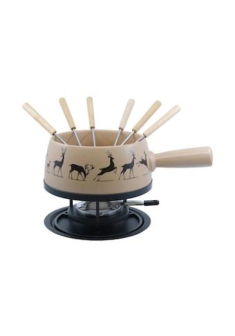 Käsefondue - Set, Kadastar, »Regular Hirsch, Beige, 9 - teilig« kaufen