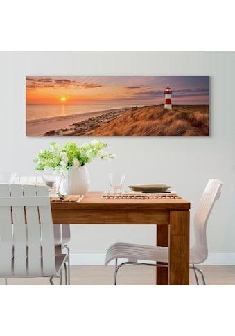 Reinders! Holzbild »Deco Panel 52x156 Lighthouse Sunset« kaufen