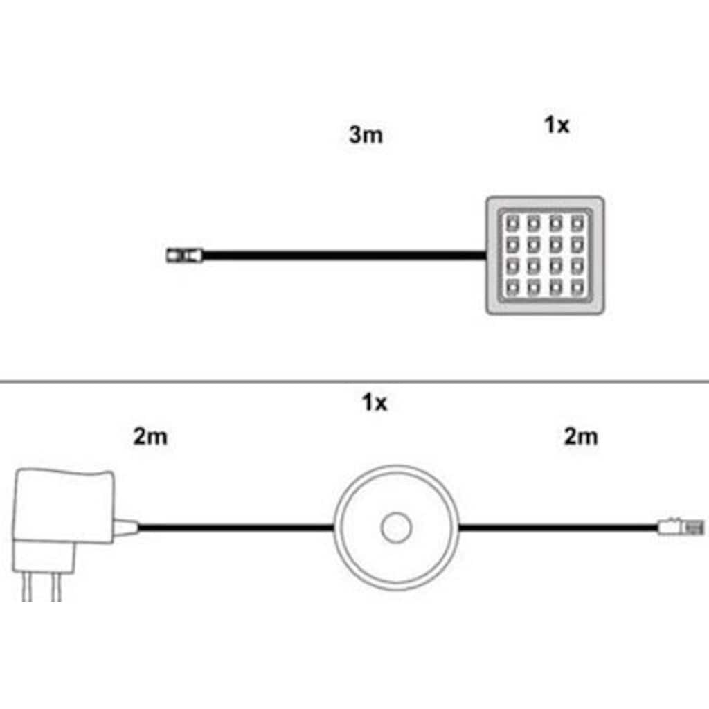 trendteam LED Schrankinnenraumbeleuchtung, LED-Board, 1 St., Warmweiss