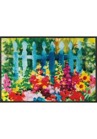 wash+dry by Kleen-Tex Fussmatte »Mare di fiori«, rechteckig, 7 mm Höhe, Schmutzfangmatte kaufen