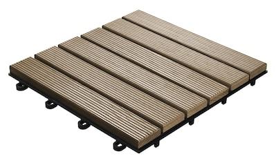florco® Terrassenplatten »Esche, 6 Latten 30 x 30, 6 Stk.« kaufen