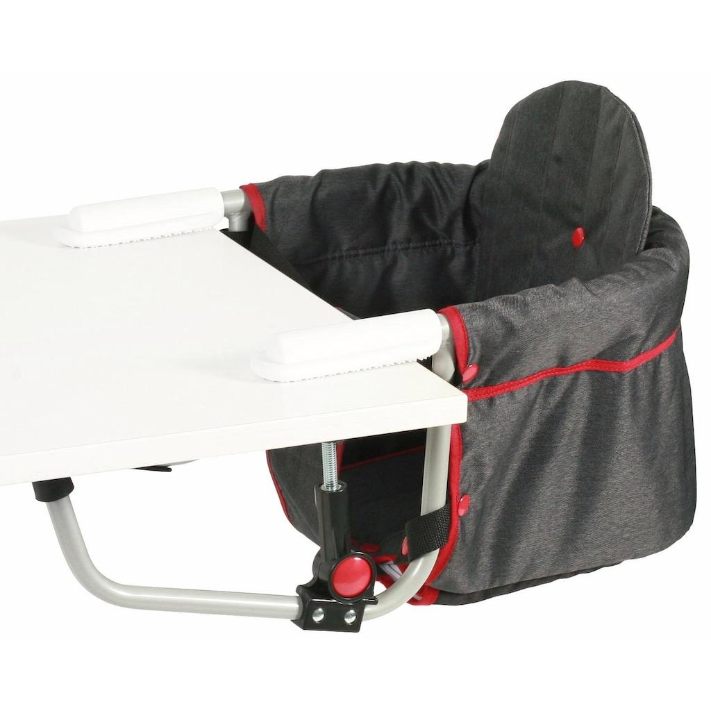 CHIC4BABY Tischsitz »Relax, jeans black«, mit universellem Befestigungssystem