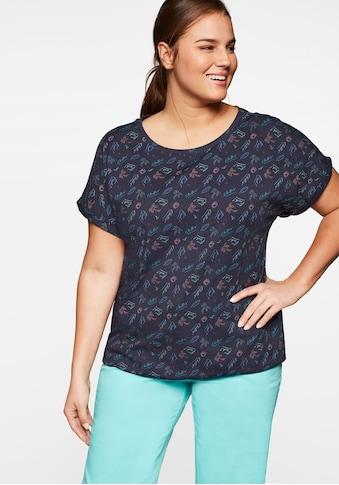 Sheego T-Shirt, mit tropischem Alloverdruck kaufen