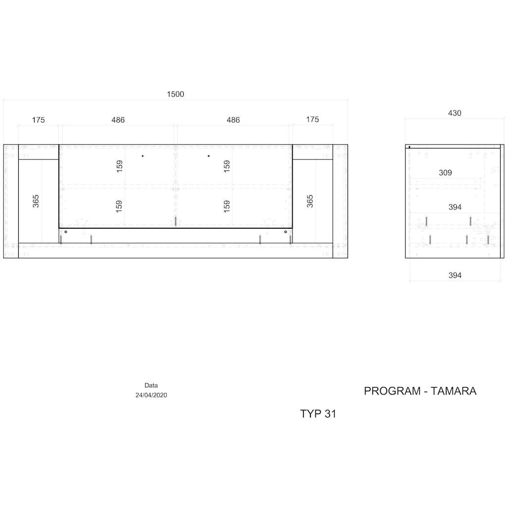 Places of Style Lowboard »TAMARA«, Hochwertige Verarbeitung