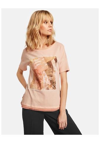 Taifun T - Shirt Langarm Rundhals »T - Shirt mit Chiffon - Applikation« kaufen