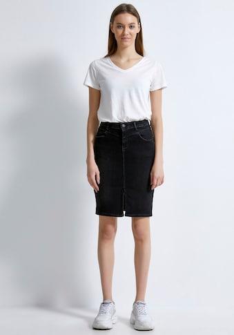 LTB Jeansrock »ROSALEEN«, mit auffälligen Abnähern für das gewisse Etwas kaufen