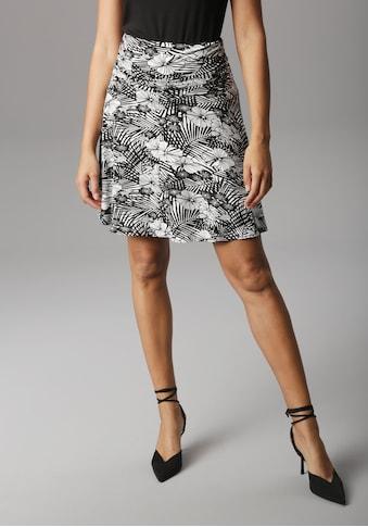 Aniston SELECTED Sommerrock, mit seitlicher Raffung und breitem Bund - NEUE KOLLEKTON kaufen