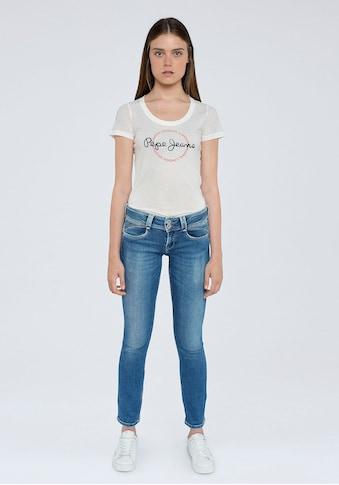 Pepe Jeans Straight-Jeans »NEW GEN«, mit 1-Knopf Bund im Komfort-Stretch-Denim kaufen
