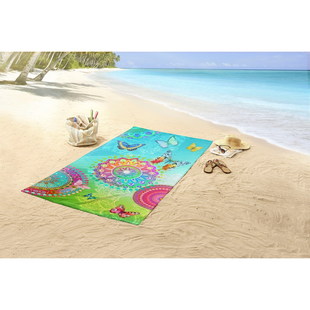 hip Strandtuch »Mystic«, (1 St.), mit Mandalas und Schmetterlingen