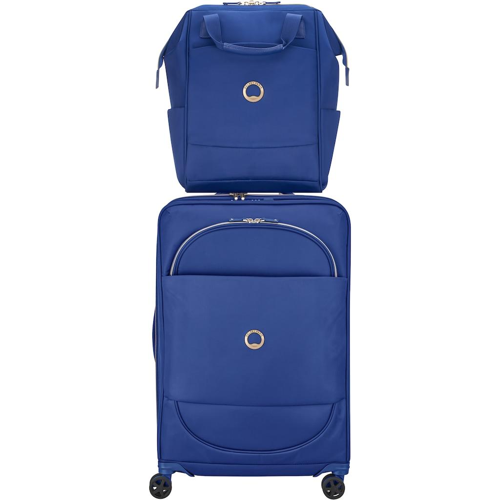 Delsey Laptoprucksack »Montrouge, blue«, mit TSA-Schloss