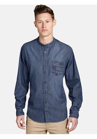 SHIRTMASTER Jeanshemd »funkydenim«, mit verzierter Brusttasche kaufen