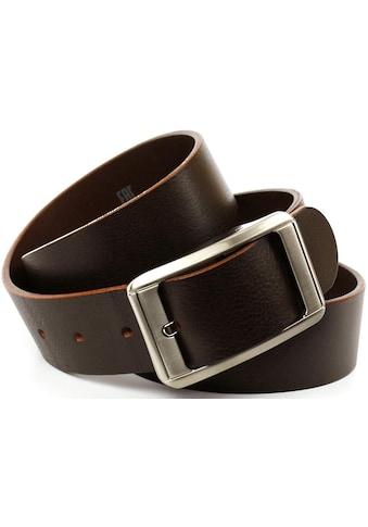Anthoni Crown Ledergürtel, Jeansgürtel mit silberfarbener Schliesse kaufen