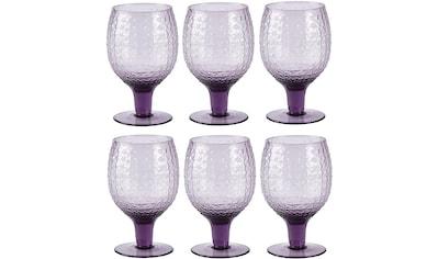 Rotweinglas »Villa Collection Rotweinglas Groove«, (6 tlg.), Durchmesser ? 8 cm kaufen
