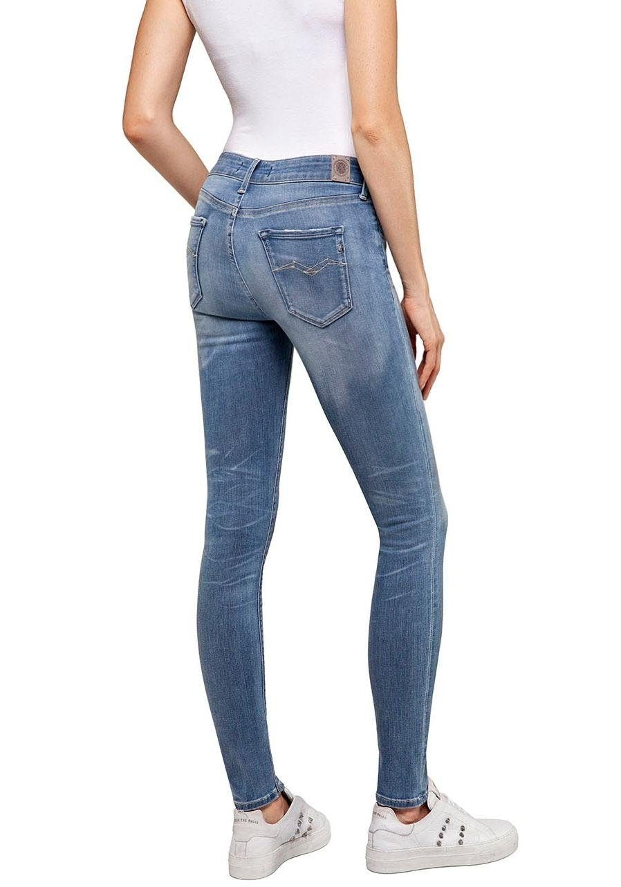Image of Replay Skinny-fit-Jeans »NEW LUZ BIO«