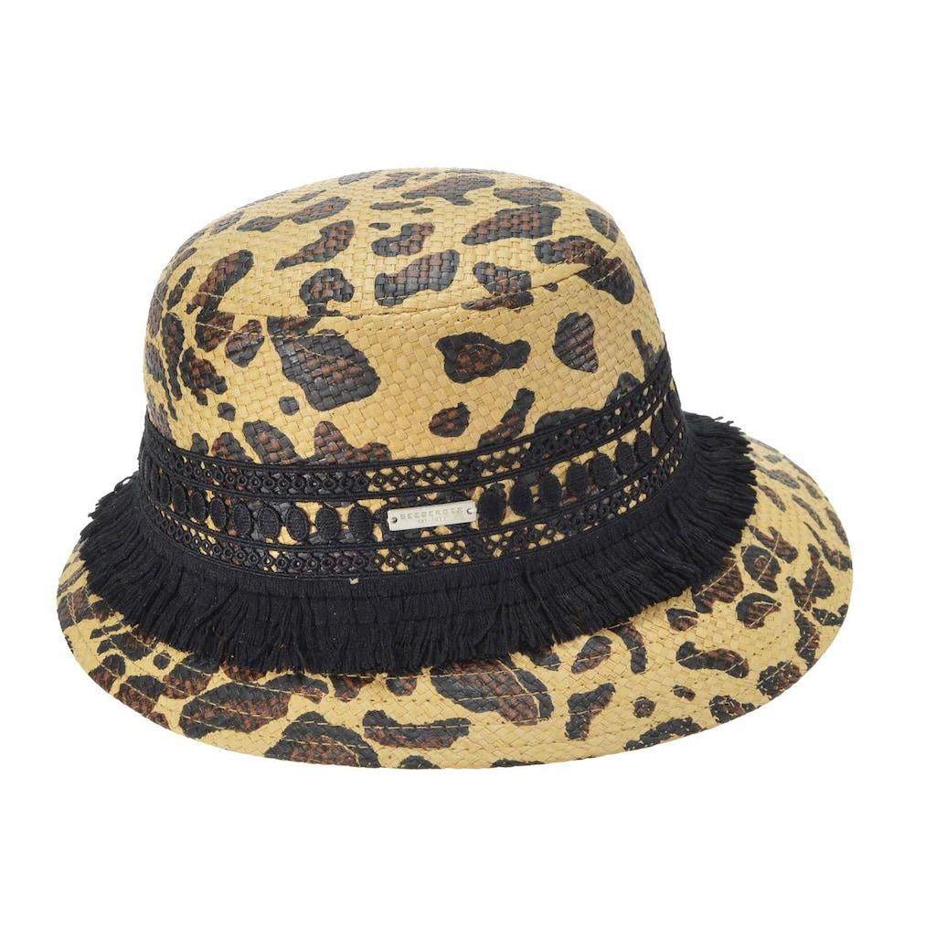Seeberger Strohhut »Glocke mit Leoparden Muster 54682-0«