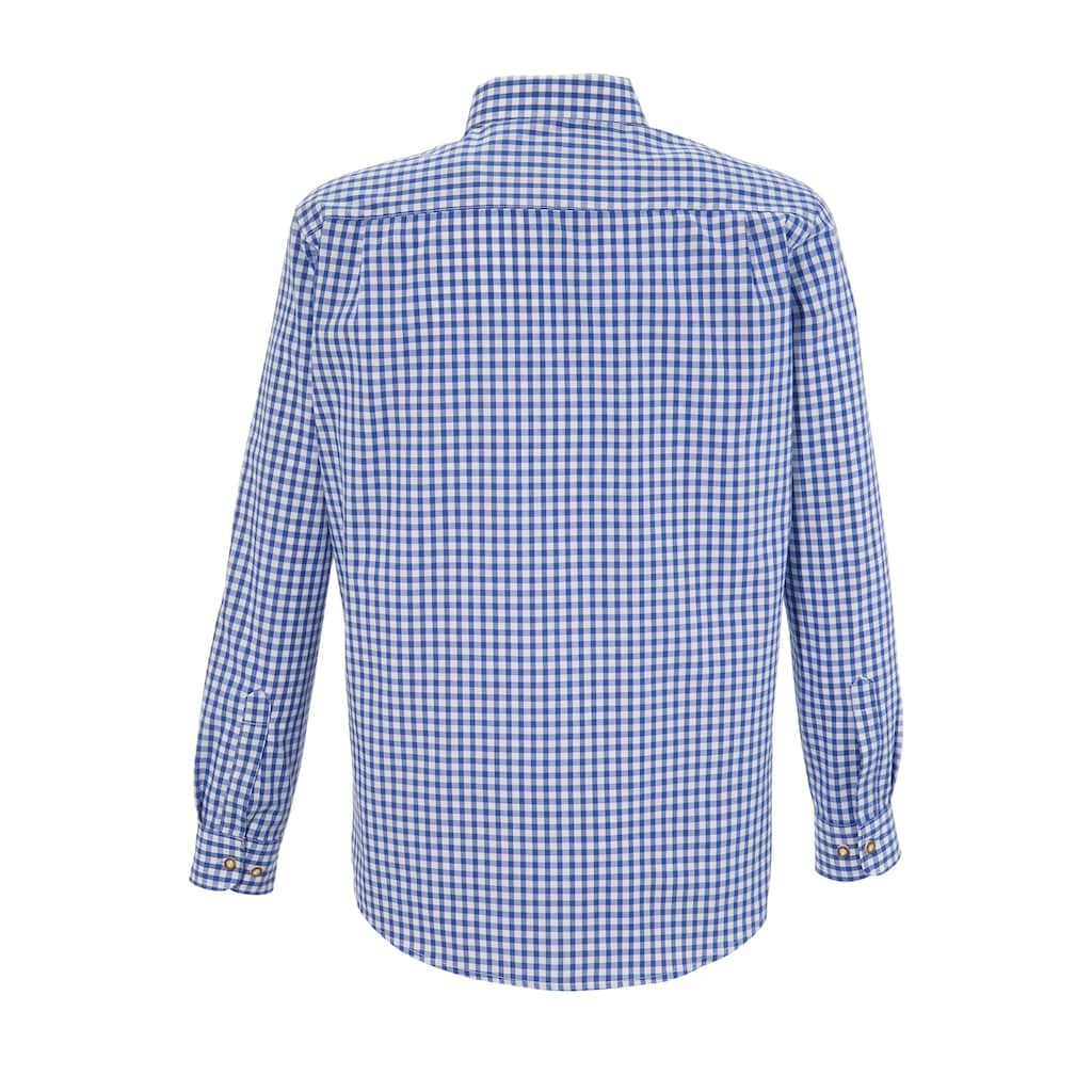 OS-Trachten Trachtenhemd, mit Krempelärmel