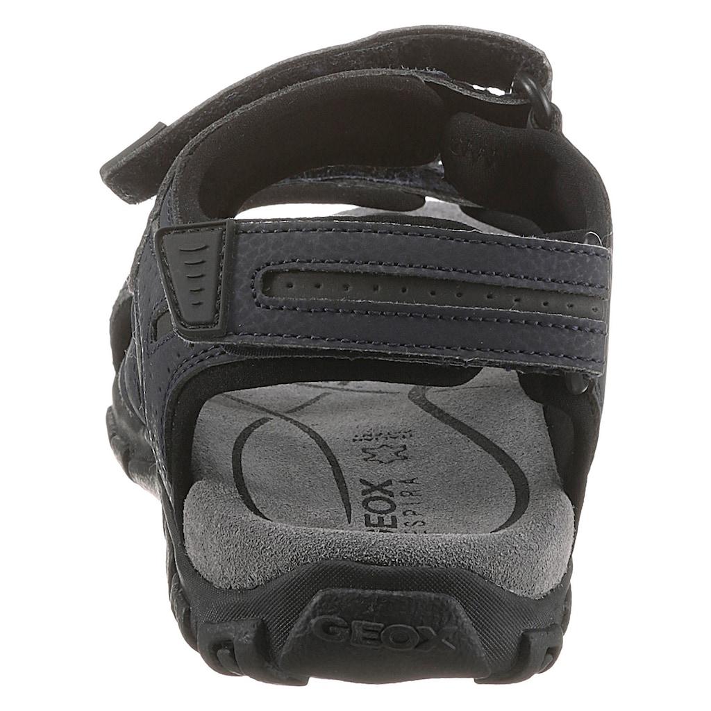 Geox Sandale »UOMO SANDAL STRADA«, mit praktischen Klettverschlüssen
